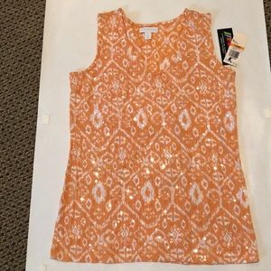 Super comfy beaded orange and white with tags